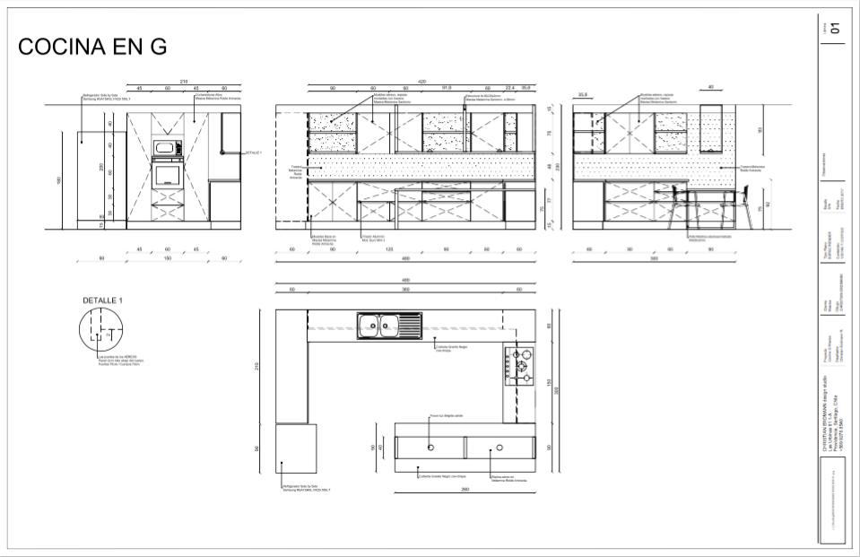 Cocina G con Isla PLANO Christian Erdmann Design