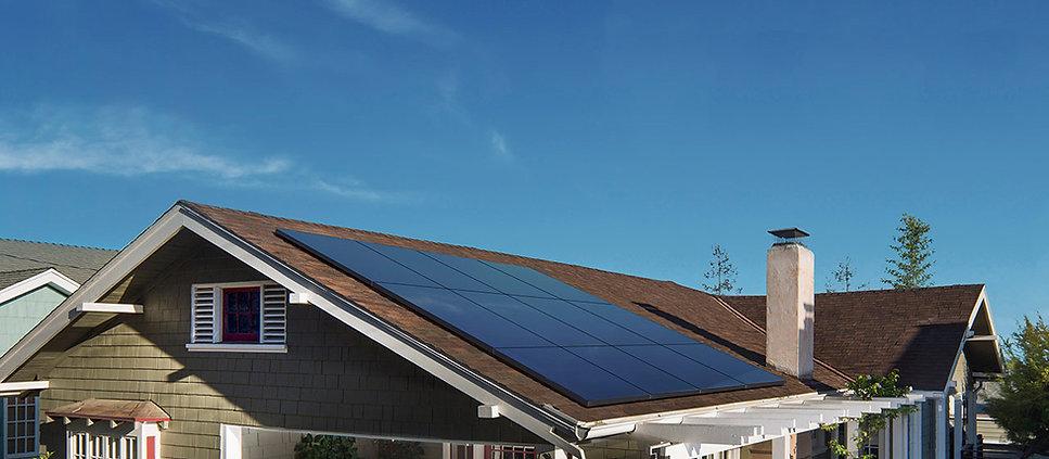 sunpower solar panel composition shingle roofing