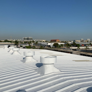 Energy efficient roof coatings