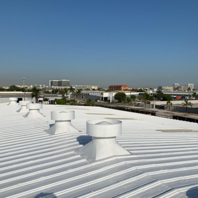 Energy efficient roof coatings