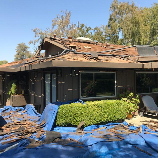 roof tear off, control the debris!