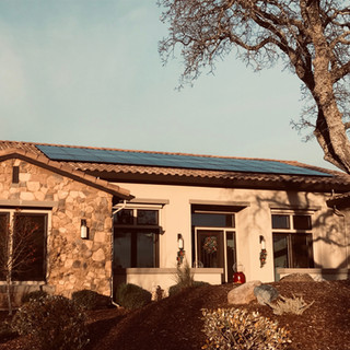 Solar and recessed tile install