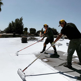 Silicone commercial roof restoration