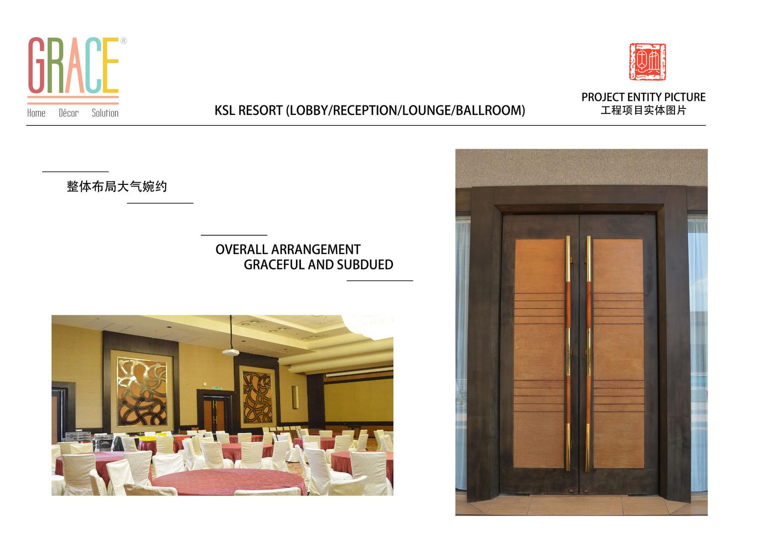 KSL Resort Lobby Door and Carpentry Works Supplier