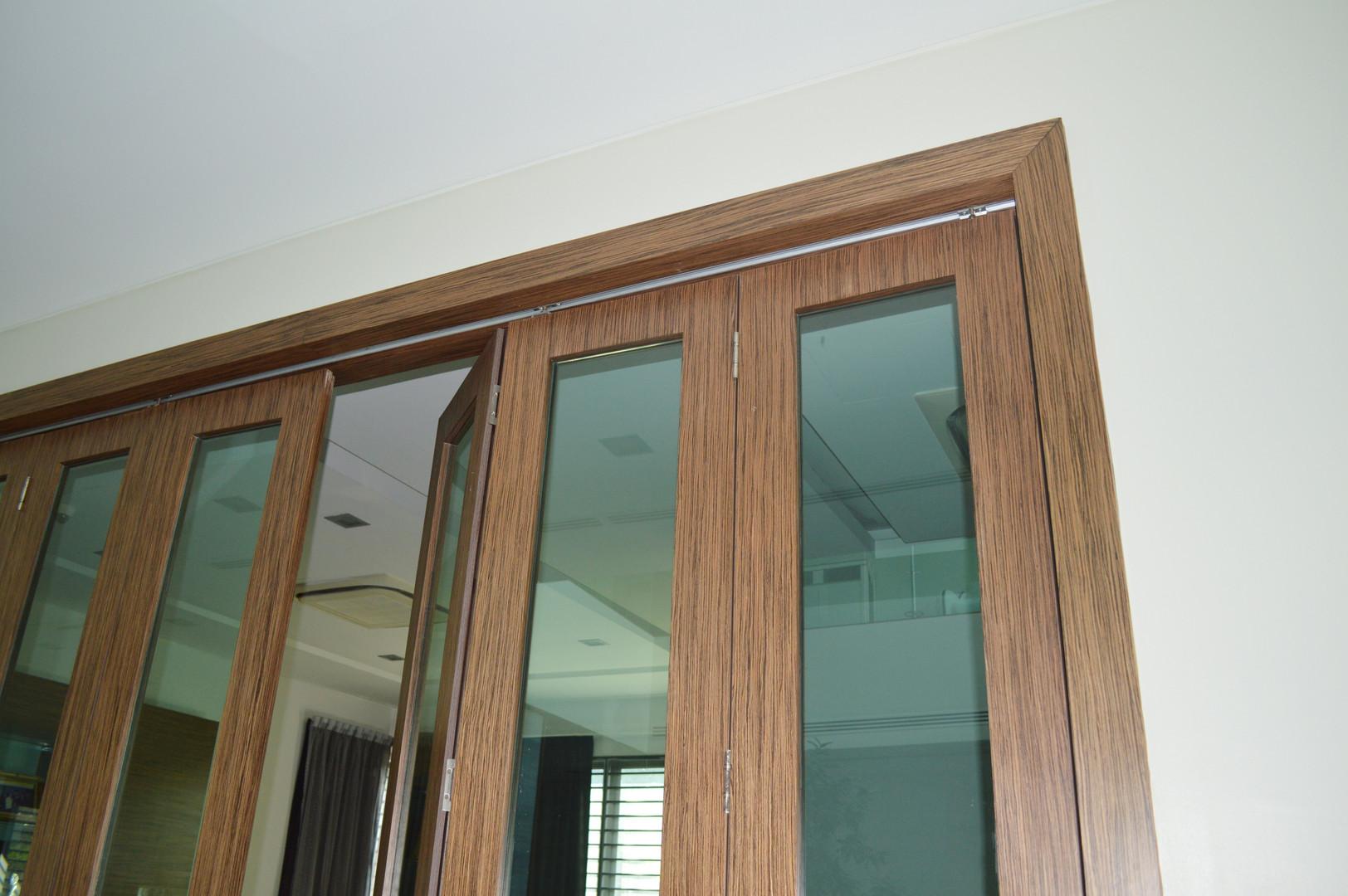 Creative Window Frame Wooden Door