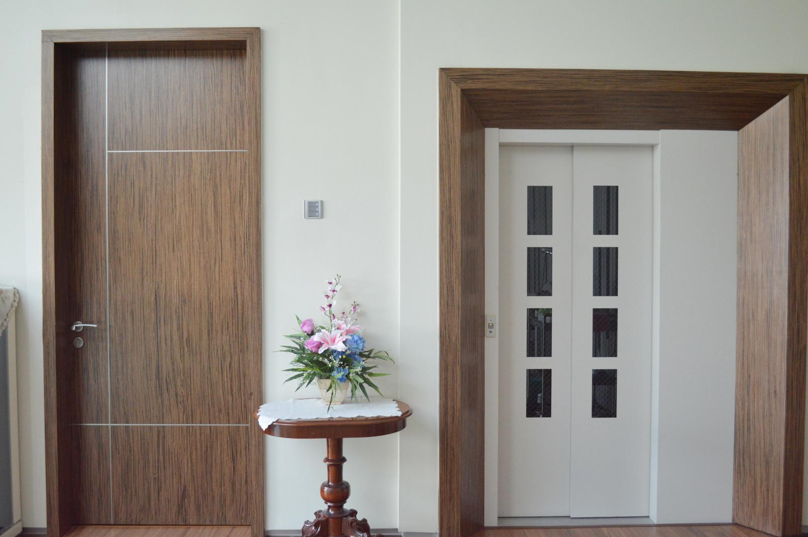 House Wooden Door and Door Frame