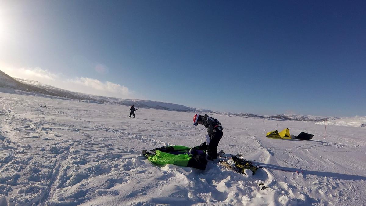 Snowkiting in Norway