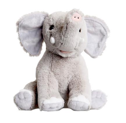 Gray Fuzzy Elephant