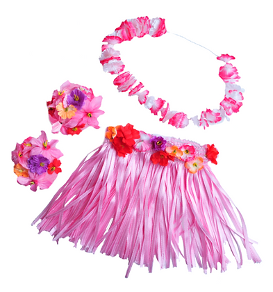 Hawaiian Girl with Flower Lei Costume
