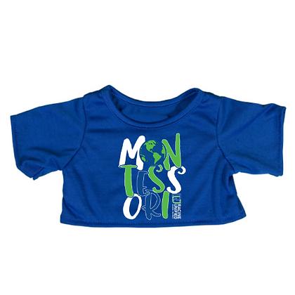 Custom School Logo Spirit Tee Shirt for Plush Animal(BLUE)