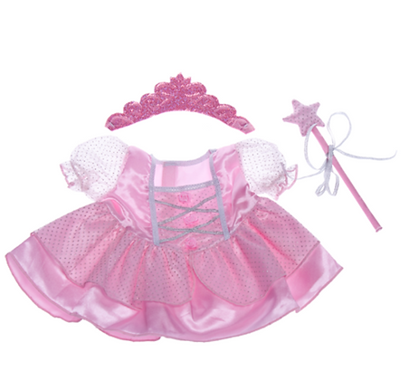 Pink Fairy Princess Gown with Wand & Tiara