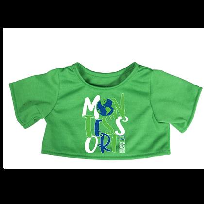 Custom School Logo Spirit Tee Shirt for Plush Animal(GREEN)