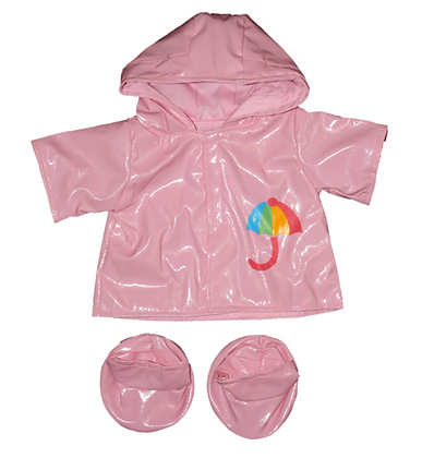 Pink Rain Coat with Boots