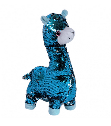 Blue Sequin Alpaca