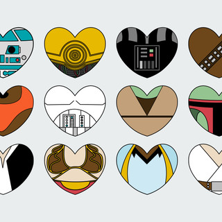 Star Wars Character Hearts