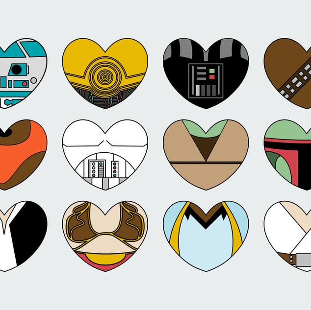 Star Wars Character Hearts