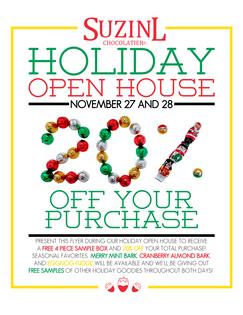 Suzin L. Holiday Open House Flyer