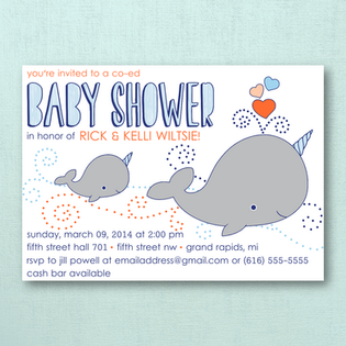Narwhal Baby Shower Invites