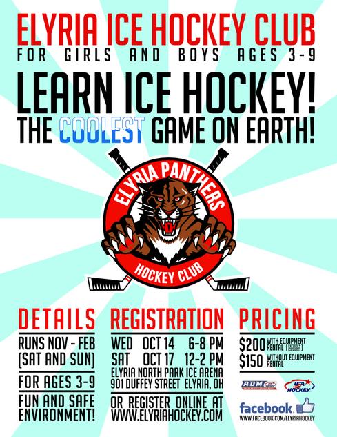 Elyria Ice Hockey Club Flyer