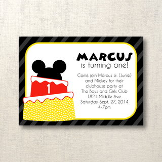 Mickey Mouse 1st Birthday Party Invite