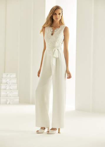 Bianco Evento bridal jumpsuit TRINITY (1