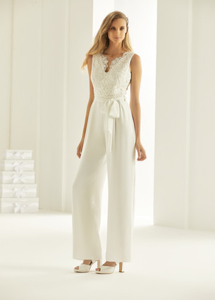 Bianco Evento bridal jumpsuit TRINITY (1