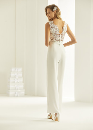 Bianco Evento bridal jumpsuit TRINITY (3
