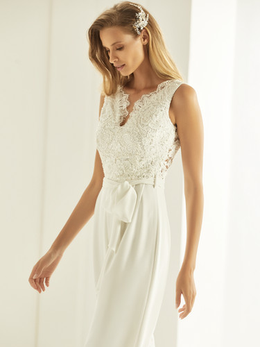 Bianco Evento bridal jumpsuit TRINITY (2