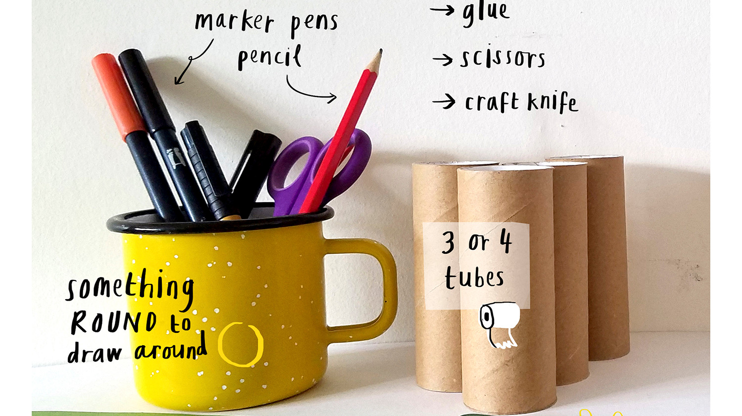 Loo Roll Craft Club - Desk Tidy 2