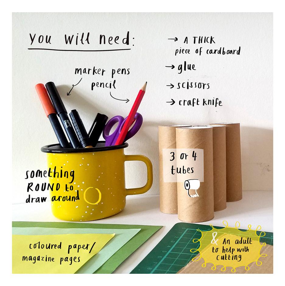 Loo Roll Craft Club - Desk Tidy 2