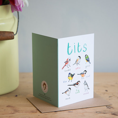 Tits Greetings Card x 6