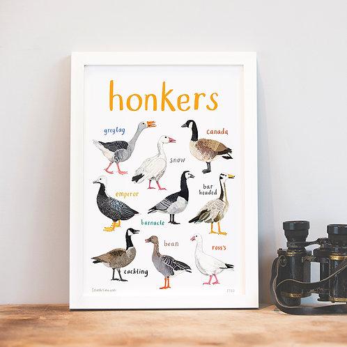 Honkers A4 Print