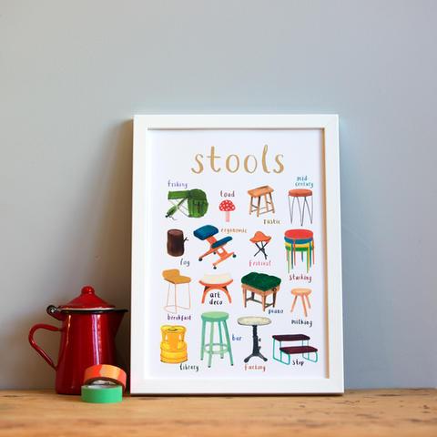 Stools Art Print