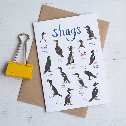 Shags Greetings Card x 6