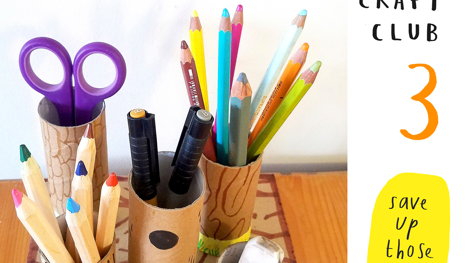 Loo Roll Craft Club - Desk Tidy 1