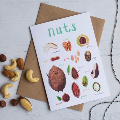 Nuts Greetings Card