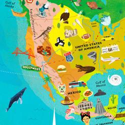 Globe design: North America
