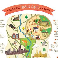 Roald Dahl Cardiff Map
