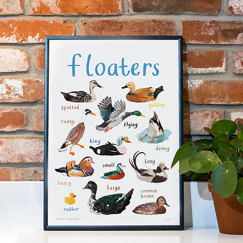 Floaters A3 Print