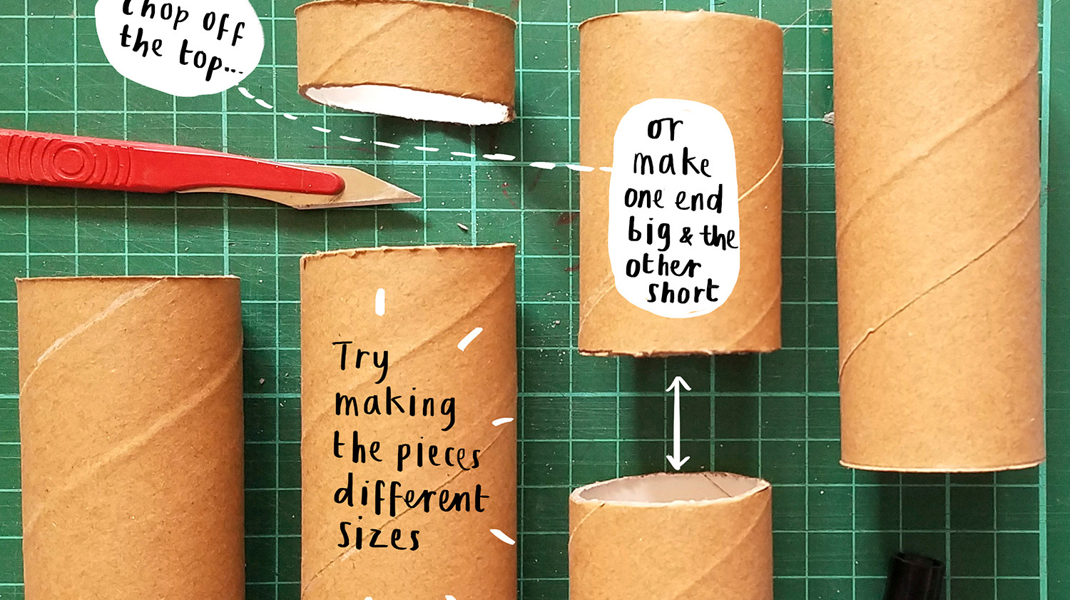 Loo Roll Craft Club - Desk Tidy 3