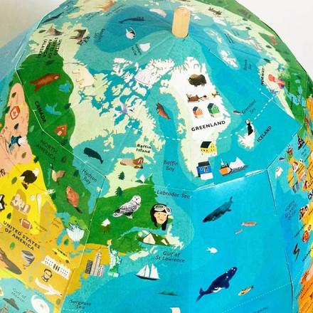 Discovery Globe Close Up