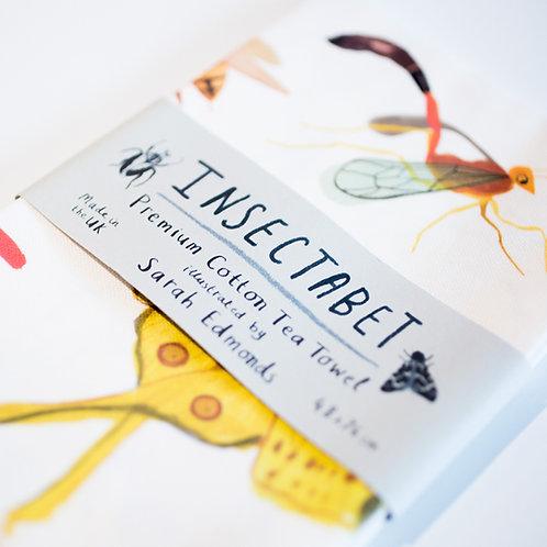 Insect Alphabet Tea Towel