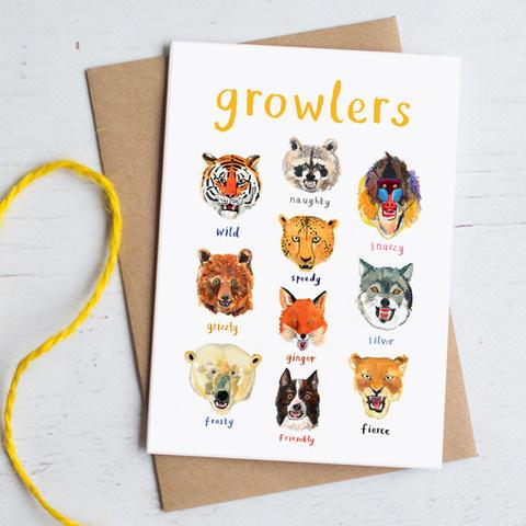 Growlers Greetings Card