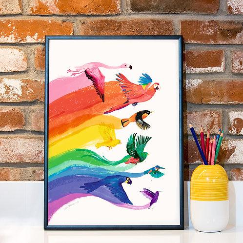 Pride Birds A3 Print