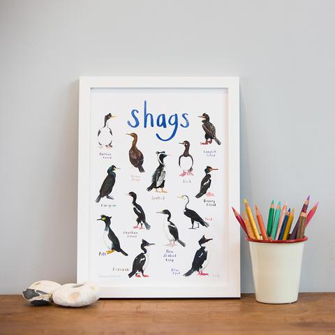 Shags Art Print