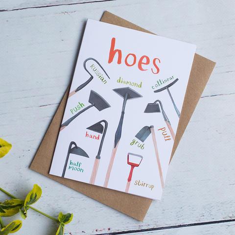 Hoes Greetings Card