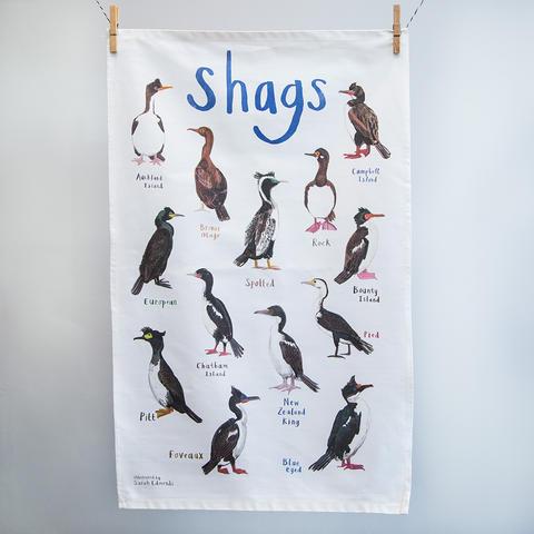 Shags Tea Towel