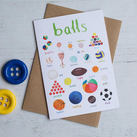 Balls Greetings Card