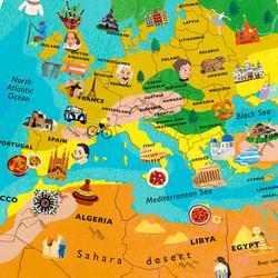 Globe Design: Europe / North Africa