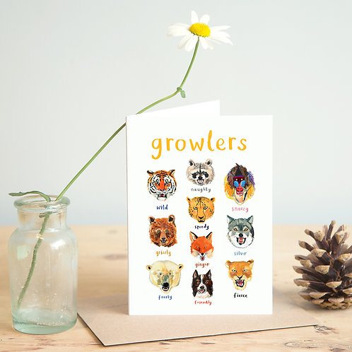 Growlers Greetings Card x 6
